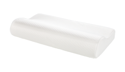 A tempur-pedic neck pillow, the orginal pillow